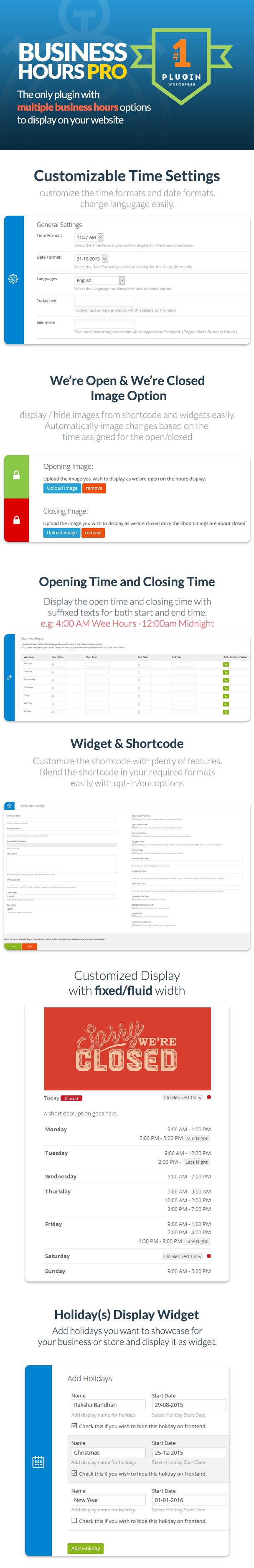 Business Hours Pro WordPress Plugin - 5